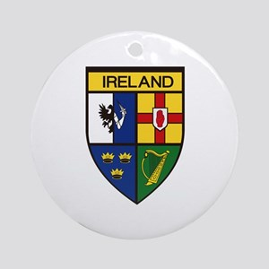 Irish Shield Ornament (Round)