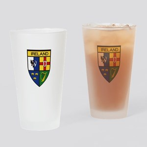 Irish Shield Drinking Glass