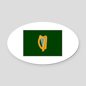 Irish Flag Oval Car Magnet