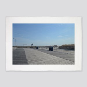 Atlantic City Boardwalk and Dunes 5'x7'Area Rug