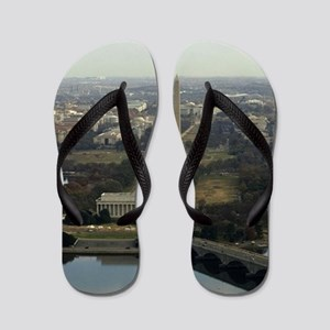 Washington DC Aerial Photograph Flip Flops
