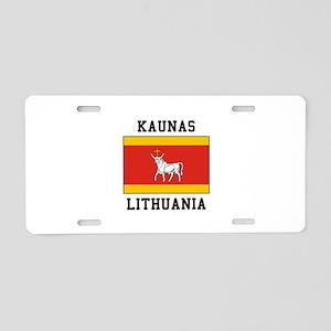 Kaunas, Lithuania Aluminum License Plate