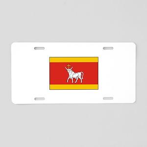 Kaunas, Lithuania Flag Aluminum License Plate