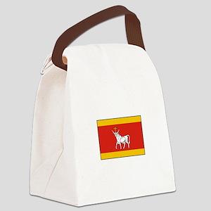 Kaunas, Lithuania Flag Canvas Lunch Bag
