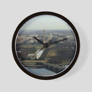 Washington DC Aerial Photograph Wall Clock