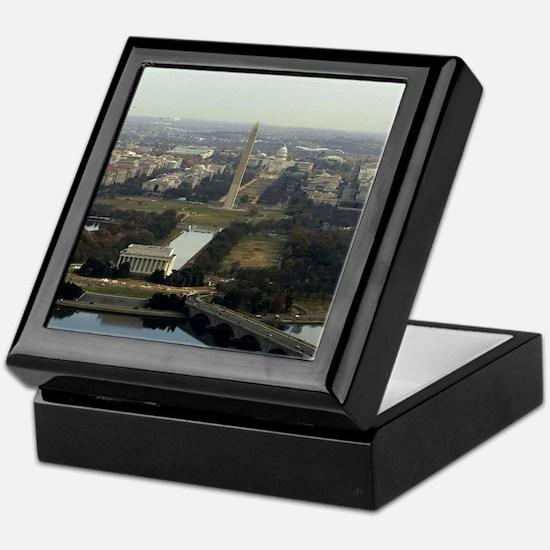 Washington DC Aerial Photograph Keepsake Box