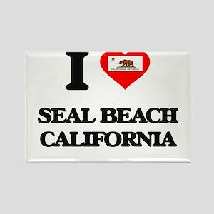 I love Seal Beach California Magnets