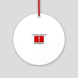 Heart In Kathmandu Ornament (Round)