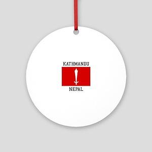 Kathmandu Nepal Ornament (Round)