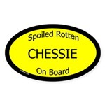 Spoiled Chessie On Board Oval Sticker