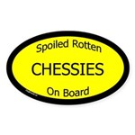 Spoiled Chessies On Board Oval Sticker