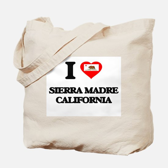 I love Sierra Madre California Tote Bag