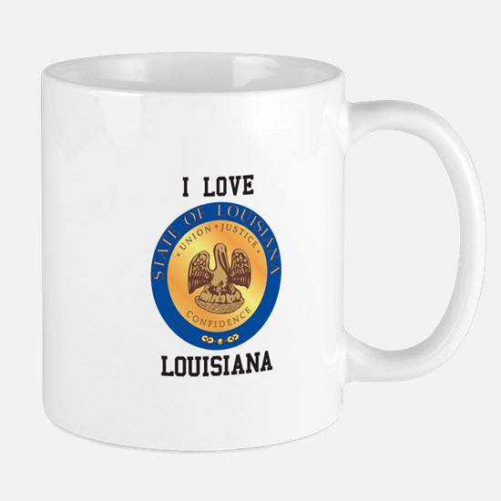 I Love Louisiana Mugs