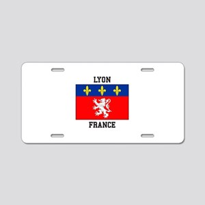 Lyon, France Aluminum License Plate