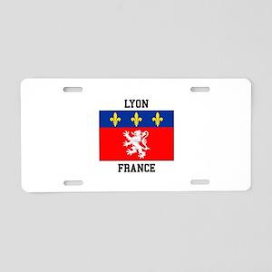 Lyon, France Aluminum License Plate