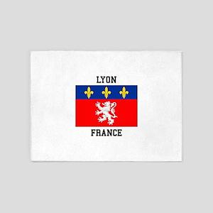 Lyon, France 5'x7'Area Rug