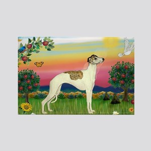 Bright Country & Whippet Rectangle Magnet