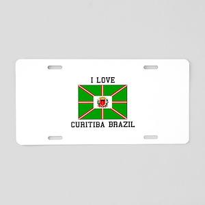 I Love Curitiba Brazil Aluminum License Plate