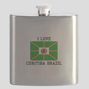 I Love Curitiba Brazil Flask
