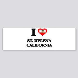 I love St. Helena California Bumper Sticker