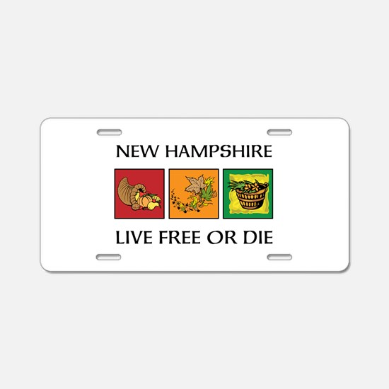 NH Autumn Aluminum License Plate