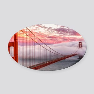 Golden Gate Bridge Oval Car Magnet