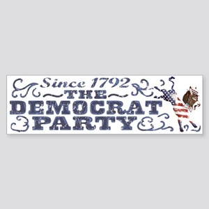 Dem Party Donkey 2008 Bumper Sticker