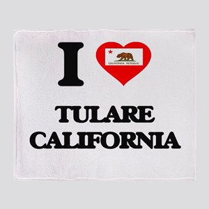 I love Tulare California Throw Blanket