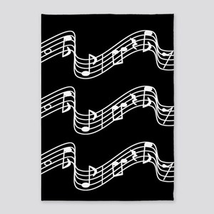 Black - Music, Music... 5'x7'Area Rug