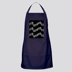 Black - Music, Music... Apron (dark)