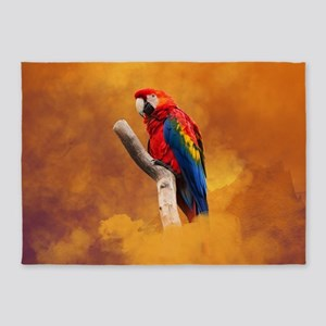 Cute parrot 5'x7'Area Rug