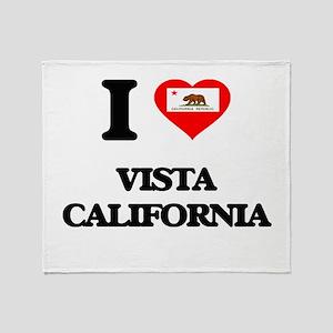 I love Vista California Throw Blanket