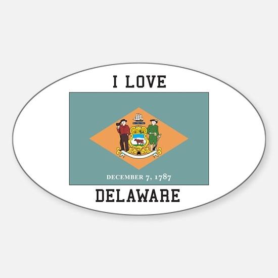 I Love Delaware Decal