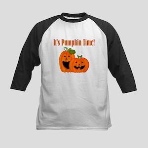 It's Pumpkin Time Kids Baseball Jersey
