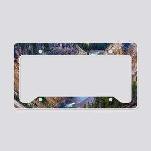 Lower Falls Yellowstone License Plate Holder