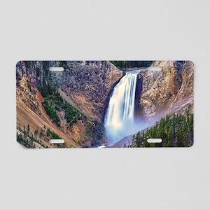 Lower Falls Yellowstone Aluminum License Plate