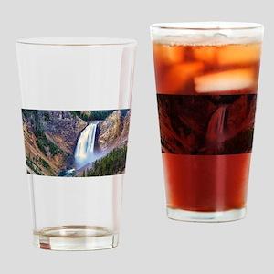 Lower Falls Yellowstone Drinking Glass