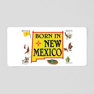 NEW MEXICO BORN Aluminum License Plate