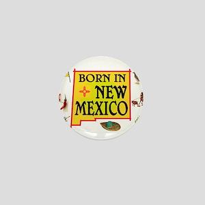 NEW MEXICO BORN Mini Button