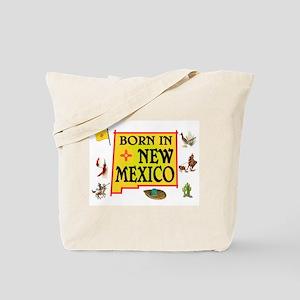 NEW MEXICO BORN Tote Bag