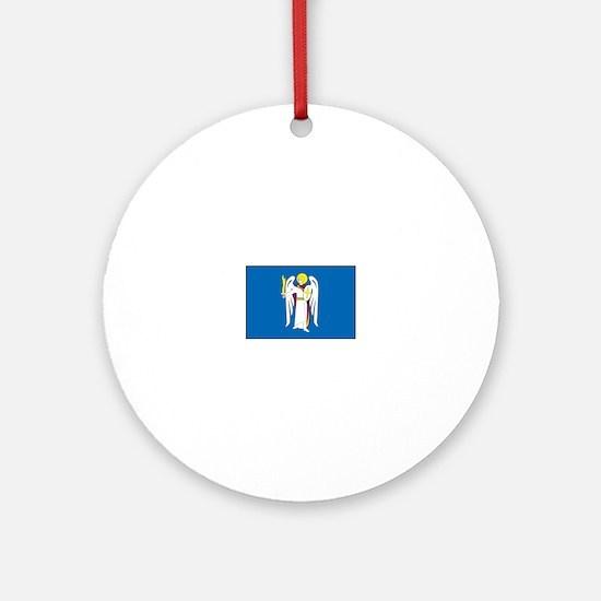 Kiev Ukraine Flag Ornament (Round)