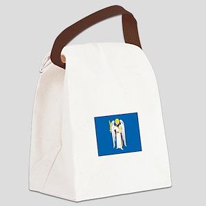 Kiev Ukraine Flag Canvas Lunch Bag