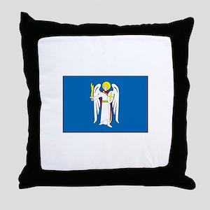 Kiev Ukraine Flag Throw Pillow