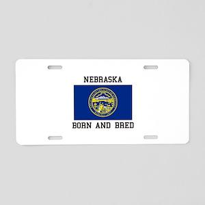 Nebraska Flag Aluminum License Plate