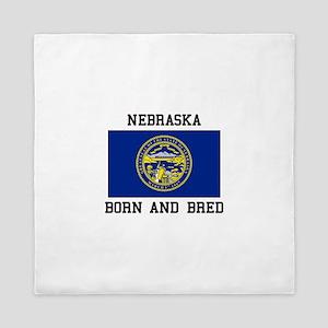 Nebraska Flag Queen Duvet