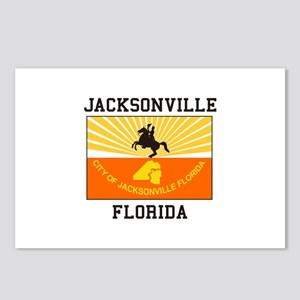 Jacksonville Florida flag Postcards (Package of 8)
