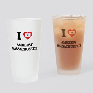 I love Amherst Massachusetts Drinking Glass
