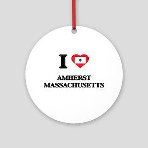 I love Amherst Massachusetts Ornament (Round)