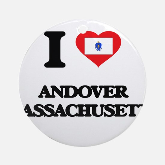 I love Andover Massachusetts Ornament (Round)
