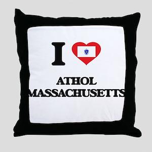 I love Athol Massachusetts Throw Pillow